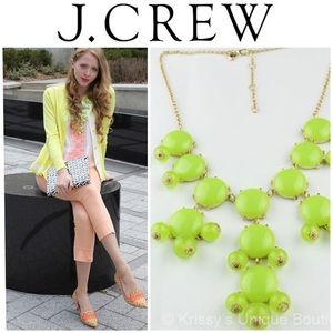 J. CREW Green bubble necklace